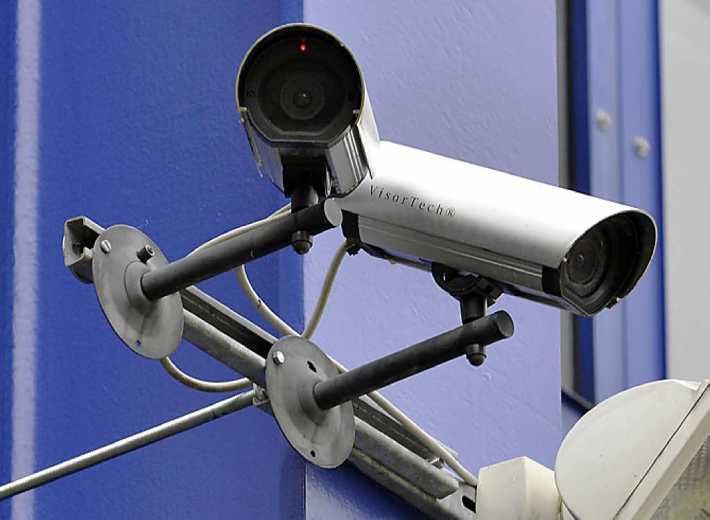 Kameraattrappen vor der Mensa Rempartstraße