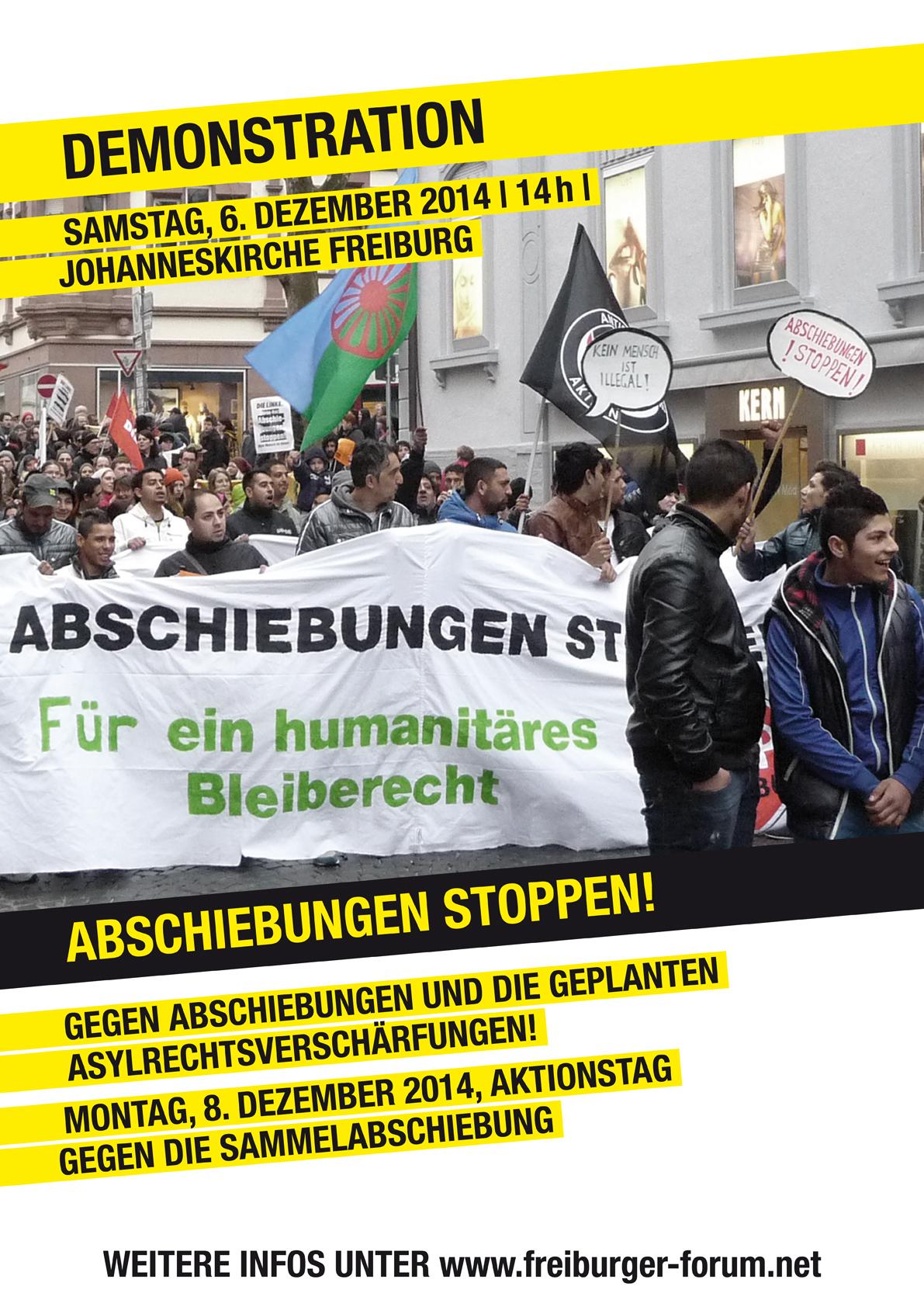 Plakat zur Demo am 6. Dezember