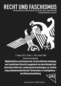 Plakat zum Diskussionsbeitrag von Henriette Freudenberg