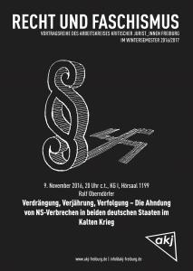 Plakat zum Vortrag von Ralf Oberndörfer